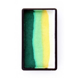 PXP 28 gram splitcake block BWhite | yellow | lime | dark green