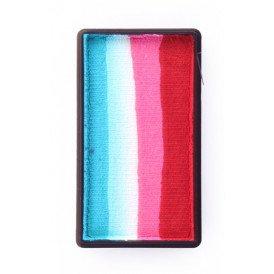 PXP 28 gram splitcake block dRed | pink | white | turquoise