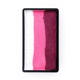 PXP 28 gram splitcake block hBordeaux red | pink | white