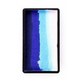 PXP 28 gram splitcake block iDeep blue | blue | light blue | white