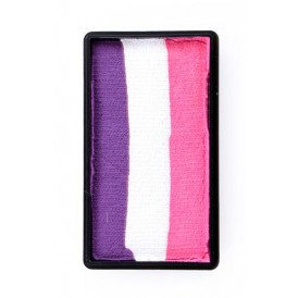 PXP 28 gram splitcake block jPurple | white | pink