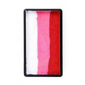 PXP 28 gram splitcake block lRed | pink | white