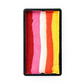 PXP 28 gram splitcake block nRed | pink | white | orange | yellow