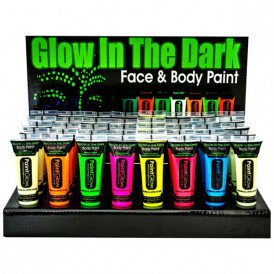 Glow in the Dark face & body paint 10 ml assortie in display