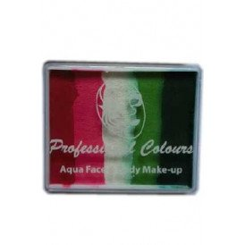 PXP 50 gram splitcake Light Red | Coral Pink | White | Light Green | Green