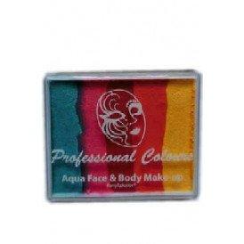 PXP 50 gram splitcake Sea Green | Coral Pink | Light Red | Golden Orange | Yellow