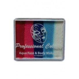 PXP 50 gram splitcake Light Red | Coral Pink | Marine Blue | Light Blue | White