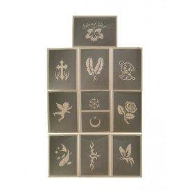 PXP schminksjabloon 10 stuks Serie B 6.5 x 9.5 cm