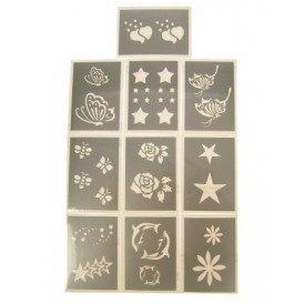 PXP schminksjabloon 10 stuks Serie C 6.5 x 9.5 cm