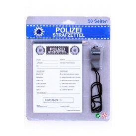 Polizei strafzettel mit Bleistift fl