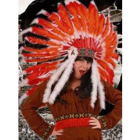 Indianentooi rood/oranje staarten de luxe