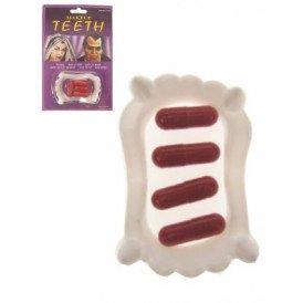 Dracula tanden + 4 bloedcapsules
