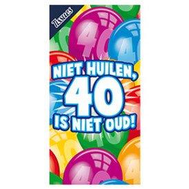 Tissuebox Niet huilen, 40 is niet oud