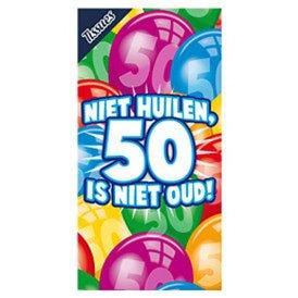 Tissuebox Niet huilen, 50 is niet oud