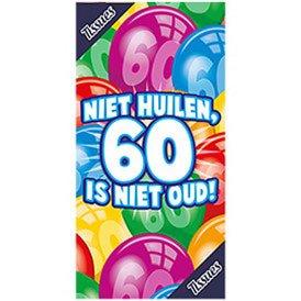 Tissuebox Niet huilen 60 is niet oud