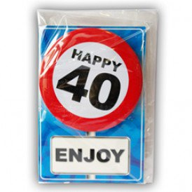 Happy age card 40 jaar