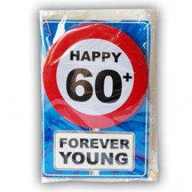 Verjaardagskaart met button 60 jaar