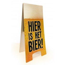 Waarschuwingsbord hier is het bier 58 x 23 cm.