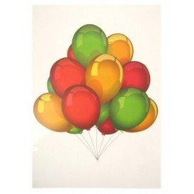 Adhesive tros ballonnen rood/geel/groen 35x50cm