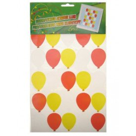 Adhesive ballonnen rood/wit/geel 35x50cm