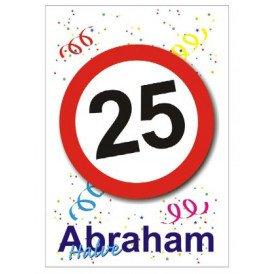 Adhesive halve abraham 25 35x55 cm
