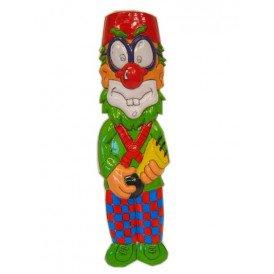 Clownsdeco met toeter 40 cm.