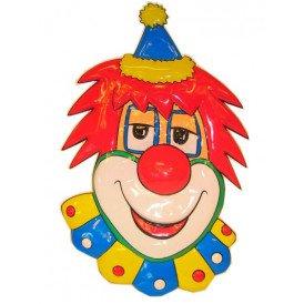 Clownsdeco met rood haar 70 cm.