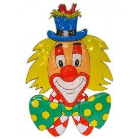 Clownsdeco met hoed 70 cm.
