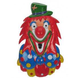 Clownsdeco groene hoed 27 x 43 cm.