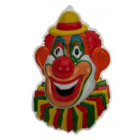 Clownsdeco gele hoed 27 x 43 cm.