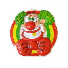 Wanddeco clownshoofd lachend 50 x 50 cm.