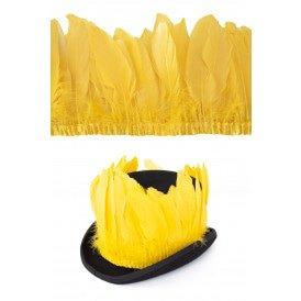 Ganzenveer op band geel 3m