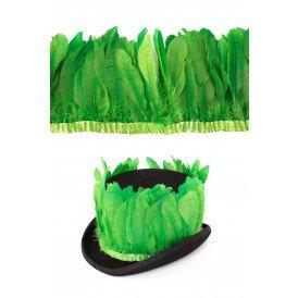 Ganzenveer op band licht groen 3m