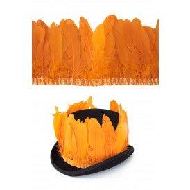 Ganzenveer op band oranje 3m
