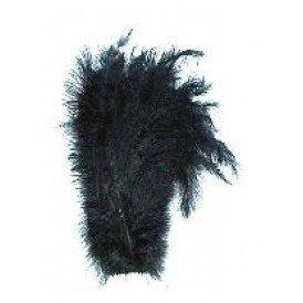 Floss veren zwart (Piet veren)