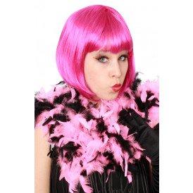 Boa brandveilig dik pink/zwart 180cm/75gr