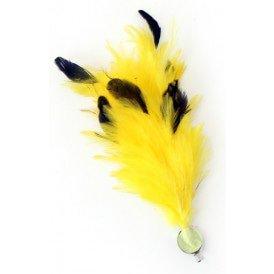 Verenpluim geel 30 cm buigbaar met speld en clip