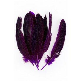 Veren parelhoen 15/20 cm 10 stuks paars