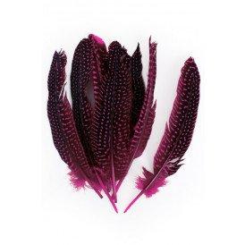 Veren parelhoen 15/20 cm 10 stuks pink