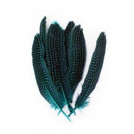 Veren parelhoen 15/20 cm 10 stuks turquoise
