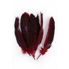 Veren parelhoen 15/20 cm 50 x rood