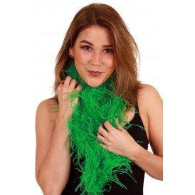 Boa groen met struisveren 200 cm. 25 gr.