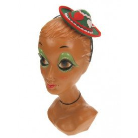 Tiroler hoedje mini op hoofdband