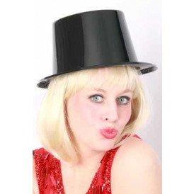 Plastic hoge hoed zwart