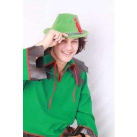 Tirolerhoed groen velvet