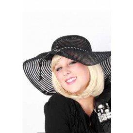 Dames organza hoed gaas ringen zwart