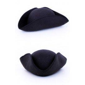 Driesteek hoed vilt zwart