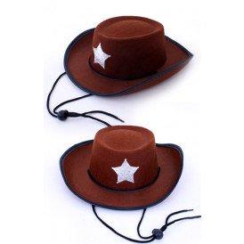 Cowboy hoed middel bruin populair