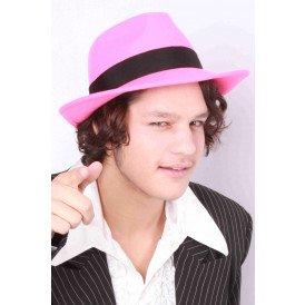 Al capone hoed wolvilt roze mt 61