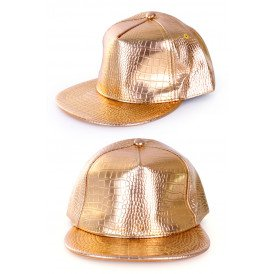 Baseball cap rapper goud